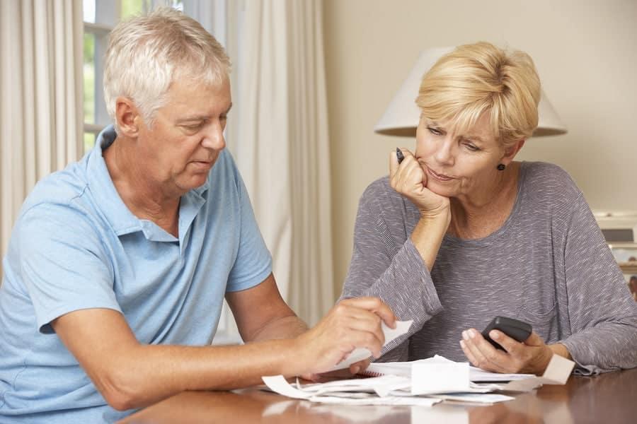 bigstock Worried Mature Couple Checking 92385254 #1 Best Trust Administration Attorney Orange County, CA | Hess-Verdon